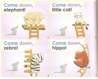 儿童英语听力:sight word kids 幼儿英语常见字1b unit 4:下来吧